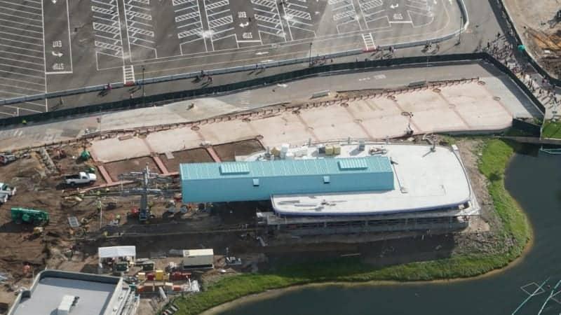 Disney Skyliner Gondola construction update November 2018 Cable Installation Preparation