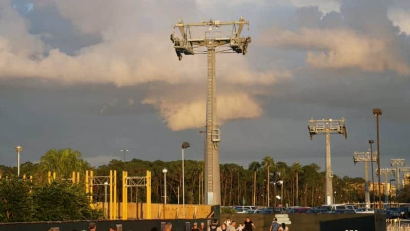 Disney Skyliner Gondola construction update November 2018
