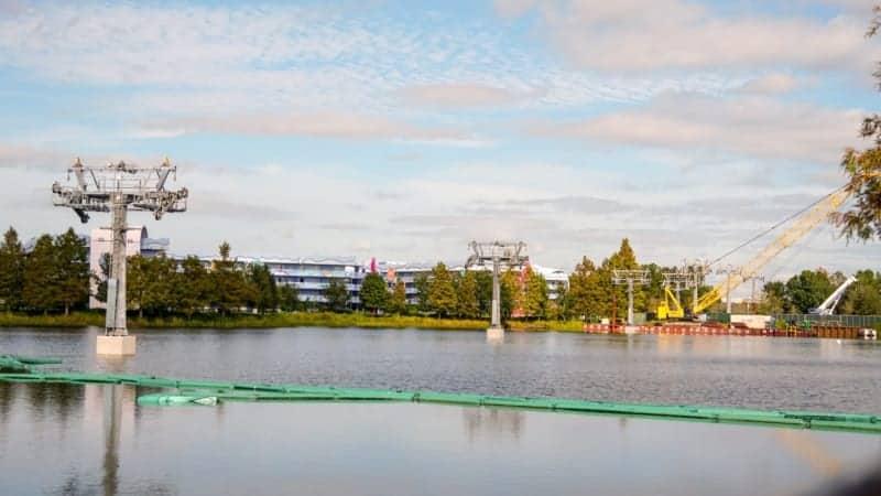 Disney Skyliner Gondola construction update November 2018 Pop Century and Art of Animation Resorts