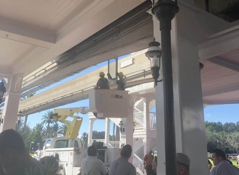 Monorail Door Unhinged in Walt Disney World Grand Floridian Resort