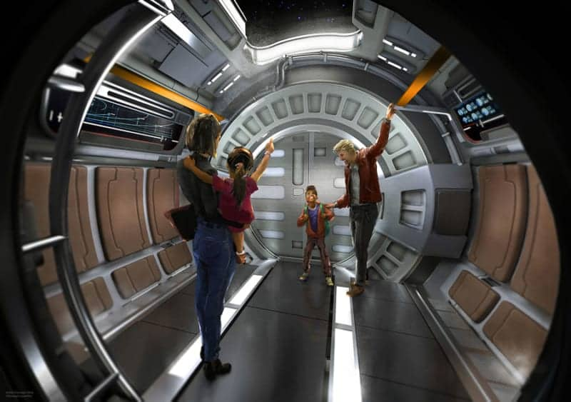 New Concept Art Star Wars Hotel shuttle inside
