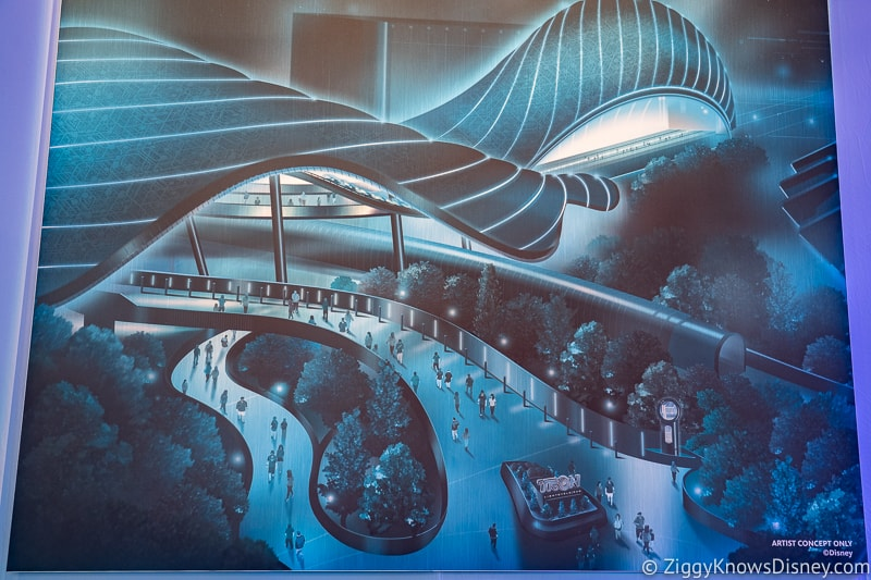 Concept Art for TRON Lightcycle Run Roller Coaster
