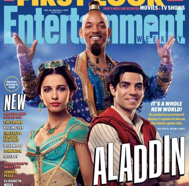 Aladdin Preview Entertainment Weekly. Genie not Blue