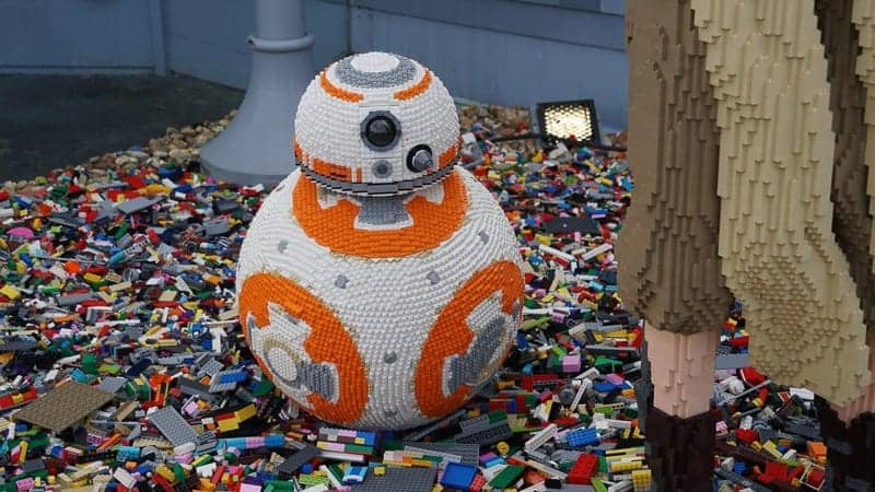 New Lego Statues Disney Springs BB-8