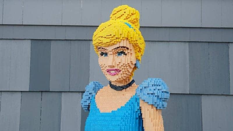 New Lego Statues Disney Springs Cinderella
