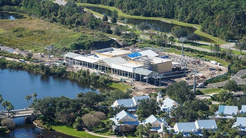 Disney Skyliner Gondola Construction Update December 2018 Caribbean Beach Station