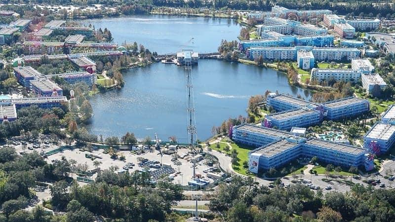 Disney Skyliner Gondola Construction Update December 2018 Pop Century and Art of Animation