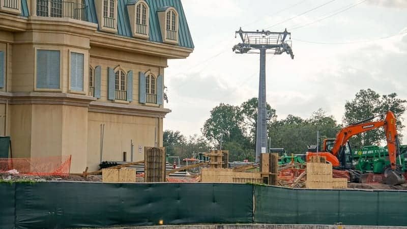 Remy's Ratatouille Adventure Construction Update December 2018 concrete forms
