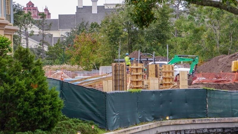 Remy's Ratatouille Adventure Construction Update December 2018 concrete