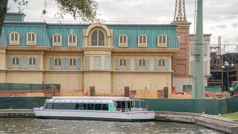 Remy's Ratatouille Adventure Construction Update December 2018 side of France pavilion