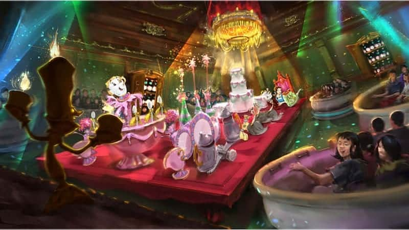 Enchanted Tale with Beauty and the Beast attraction concept art Tokyo Disneyland
