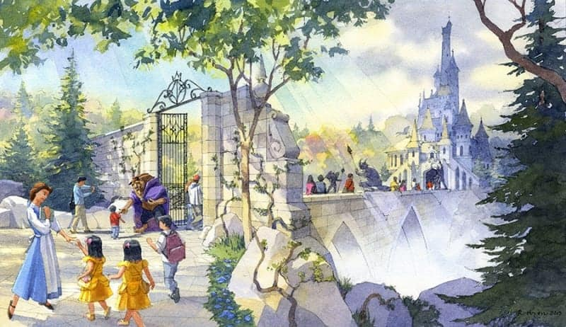 Enchanted Tale of Beauty and the Beast Tokyo Disneyland concept art
