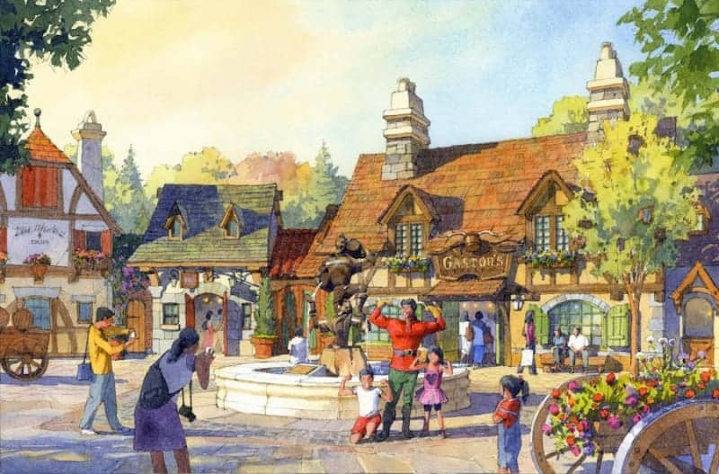 Beauty and the Beast Land Tokyo Disneyland Gaston's concept art