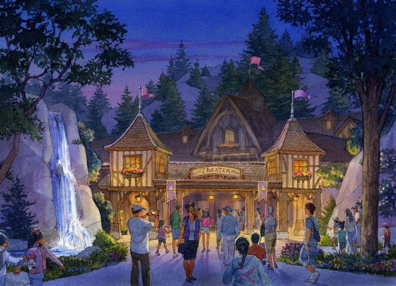 Beauty and the Beast Land Theater Tokyo Disneyland concept art