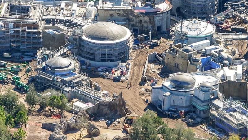 Star Wars Galaxy's Edge Construction Update December 2018 petrified tree