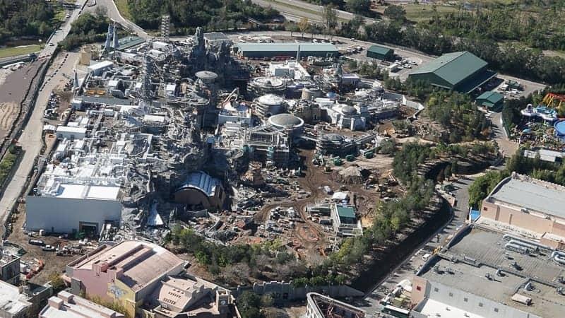 Star Wars Galaxy's Edge Construction Update December 2018 Aerial