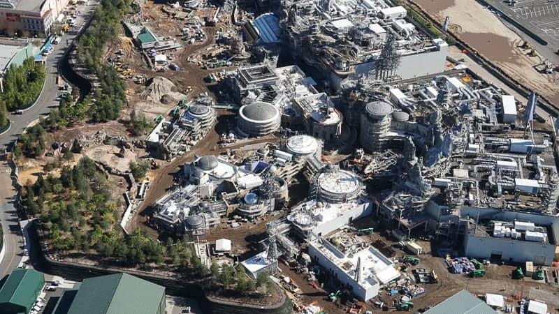Star Wars Galaxy's Edge Construction Update December 2018 Black Spire Outpost aerial