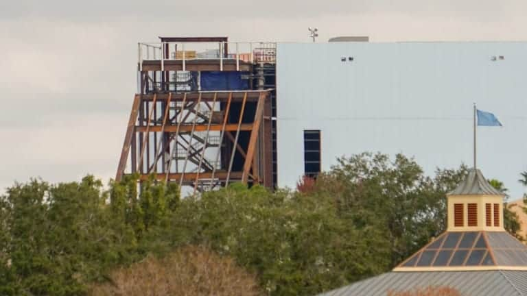 Guardians of the Galaxy Coaster Epcot Update December 2018 tunnel roof close up