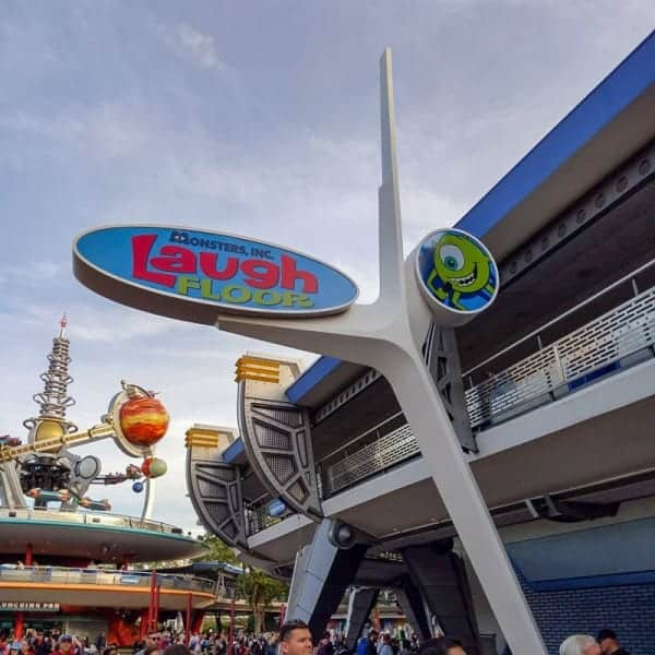 New Monsters Inc. Laugh Floor sign Tomorrowland