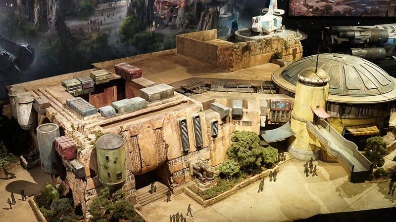 Star Wars Galaxy's Edge Construction Update December 2018