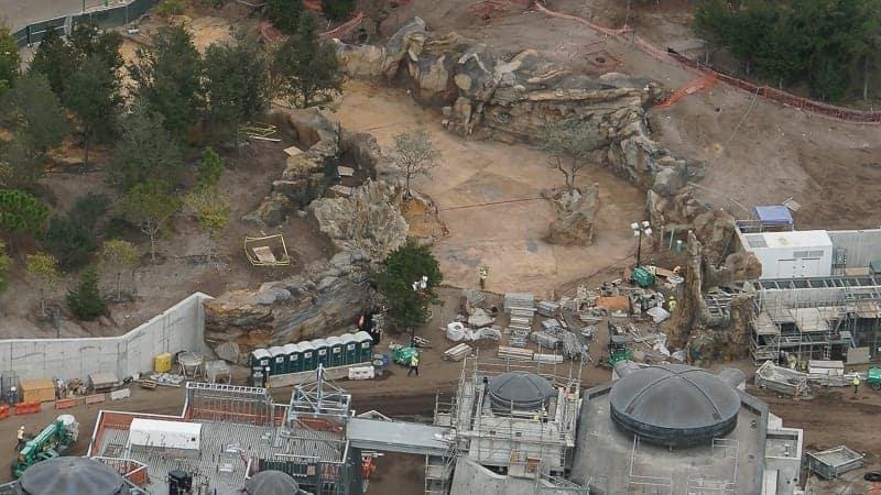 Star Wars Galaxy's Edge Construction Update December 2018 entrance