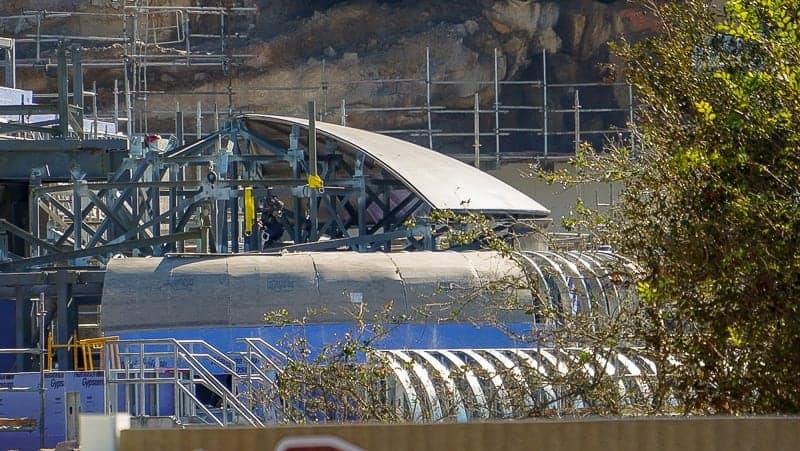Star Wars Galaxy's Edge Construction Update December 2018 roof