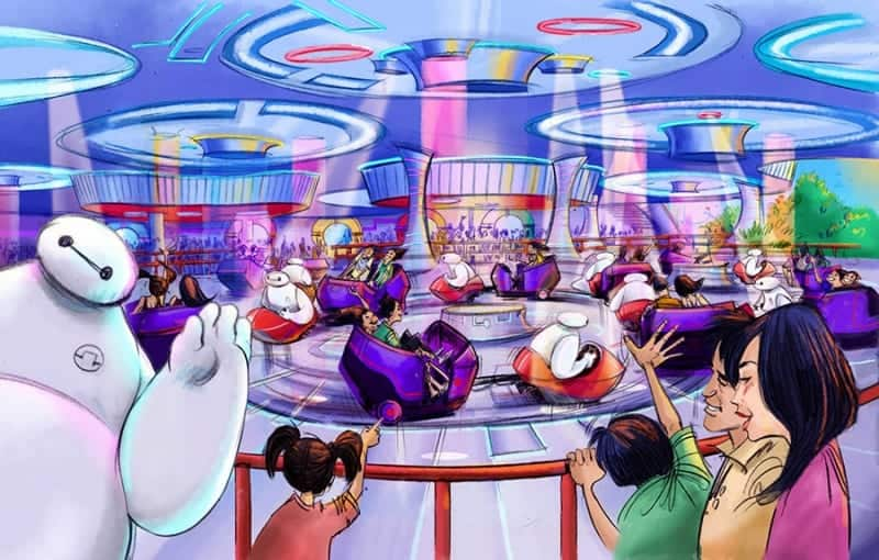 The Happy Ride with Baymax Tokyo Disneyland concept art