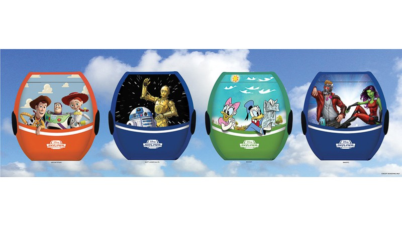 New Characters Coming to Disney Skyliner Gondolas