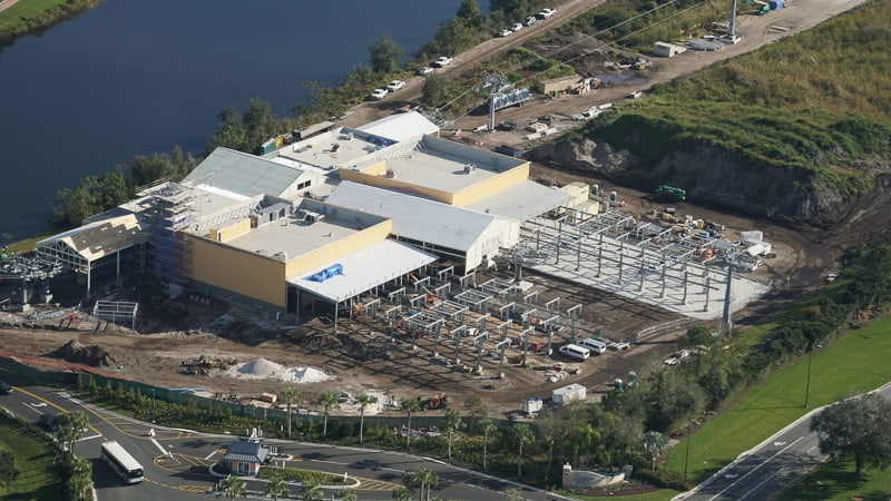 Disney Skyliner Gondola Construction Update January 2019 Caribbean Beach station