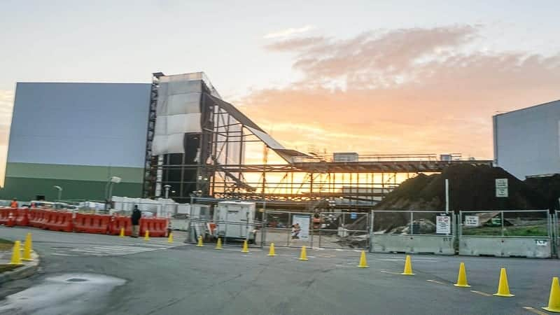 Guardians of the Galaxy Coaster Epcot Update January 2019 sunset