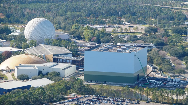 Guardians of the Galaxy Coaster Epcot Update January 2019 gravity building closed