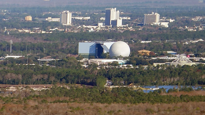 Guardians of the Galaxy Coaster Epcot Update January 2019 attraction building and spaceship earth