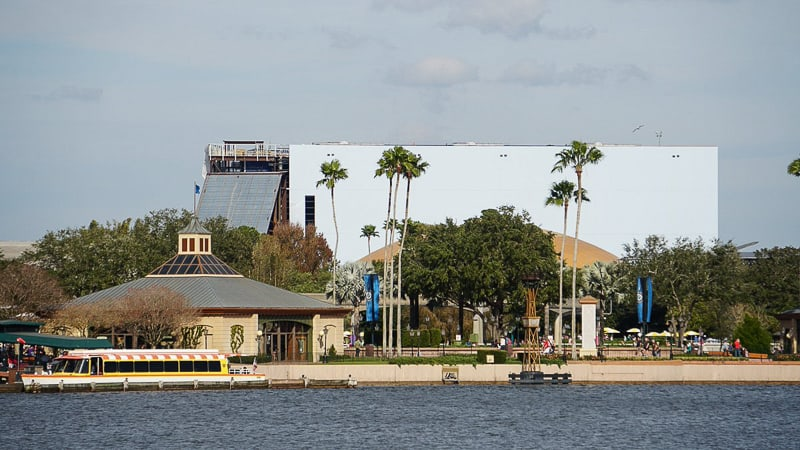 Guardians of the Galaxy Coaster Epcot Update January 2019 attraction building