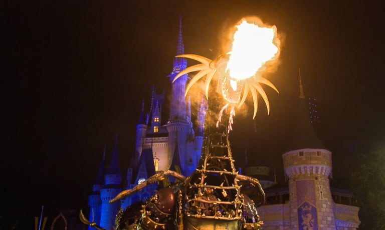 Maleficent Dragon returns to Festival of Fantasy Parade Today Magic Kingdom
