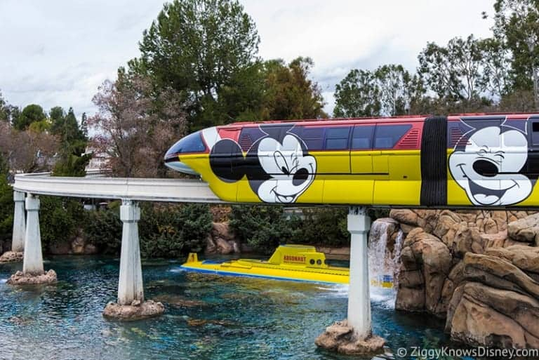 Mickey Mouse Monorail Disneyland second design