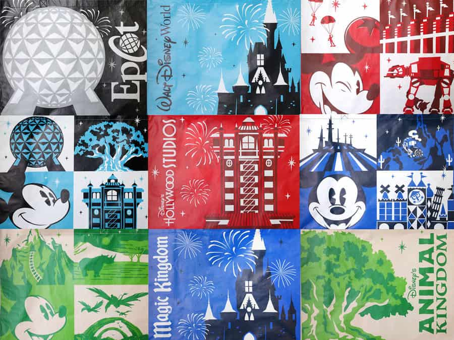 Character Reusable Bags available in Disney parks bag designs