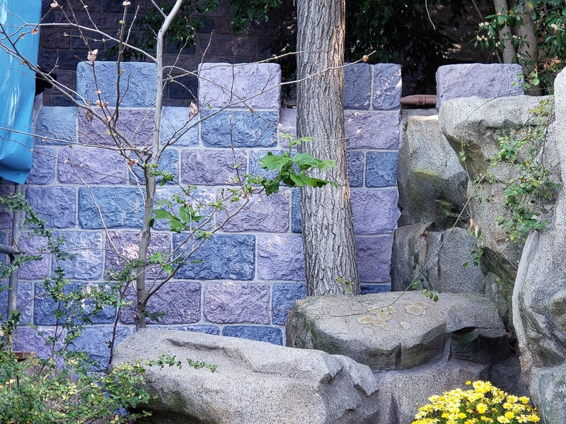 Sleeping Beauty Castle refurbishment updates Disneyland stone wall update