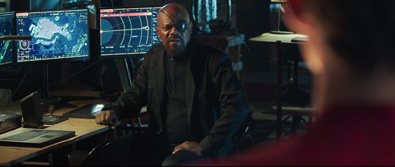 Spider-Man Far, From Home Trailer Nick Fury