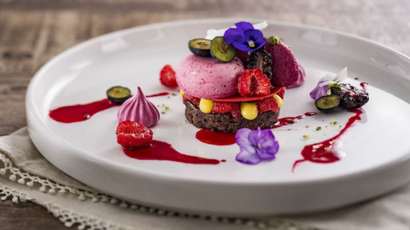 Dessert at Topolino's in Disney's Riviera Resort