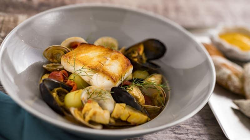 fish dish at Topolinos Disney's Riviera Resort