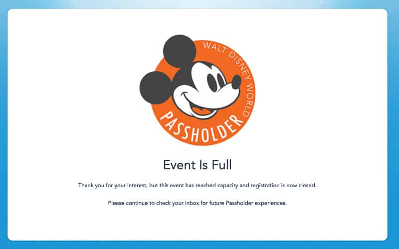 V.I.PASSHOLDER Nights Events sold out