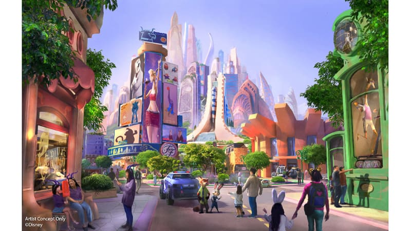 Zootopia Land Expansion Shanghai Disneyland Concept Art