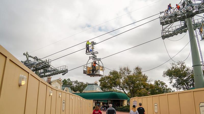 Disney Skyliner Update February 2019 workers testing