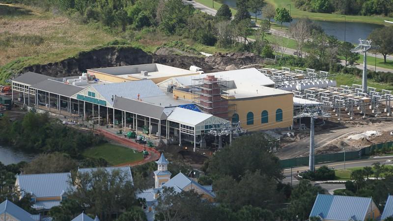 Disney Skyliner Construction Update February 2019 Caribbean Beach Station