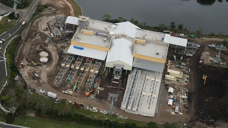 Disney Skyliner Update February 2019 Caribbean Beach station aerial