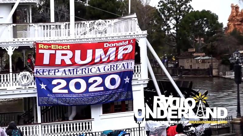 Guest banned from Disneyland after hanging Trump banner