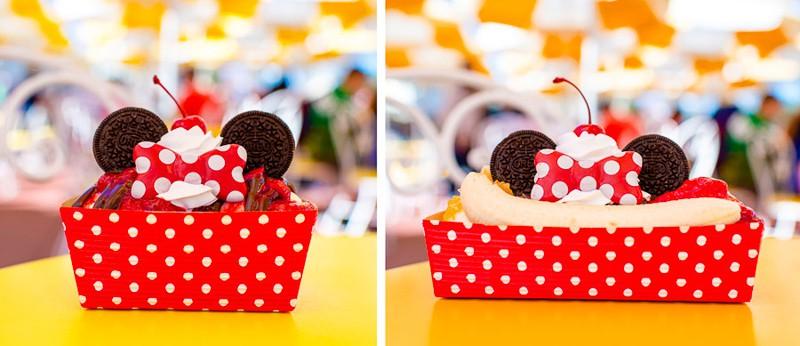 Magic Kingdom Character Themed Treats Mickey and Minnie Mouse Sundaes