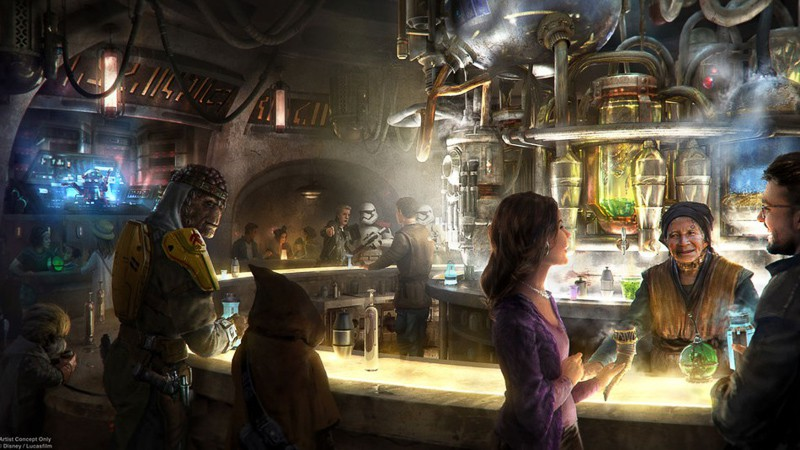 Star Wars Galaxy's Edge concept art Oga's Cantina