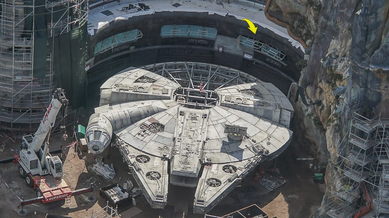 Galaxy's Edge Update February 2019 Millennium Falcon close details