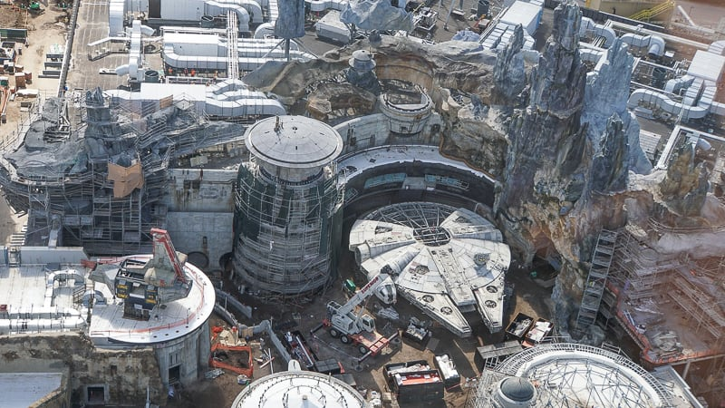 Galaxy's Edge Update February 2019 Millennium Falcon with rocks